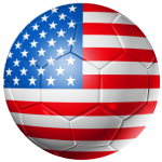USA Football Flag 58mm Button Badge